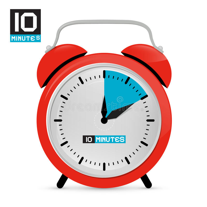 download ten 10 minutes red alarm clock stock vector illustration of business shape