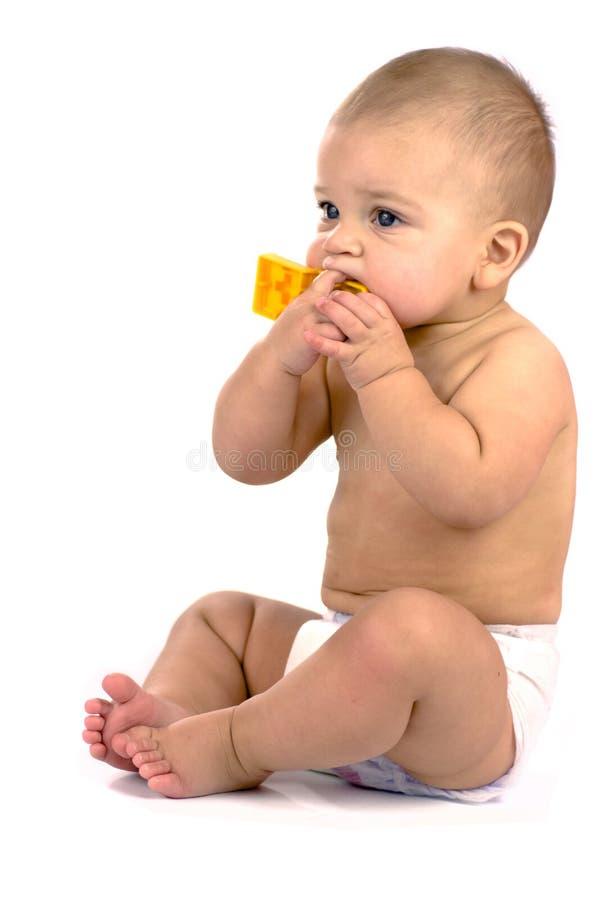 Ten Months Baby Sitting Stock Photos