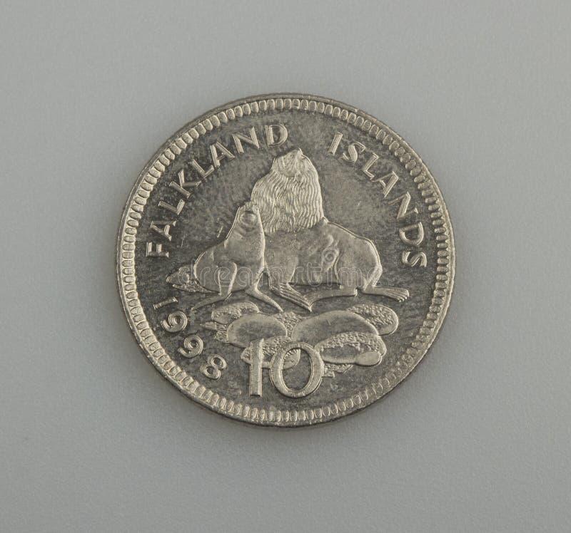 Ten Pence Falkland Or Malvinas Islands. Royalty Free Stock Image