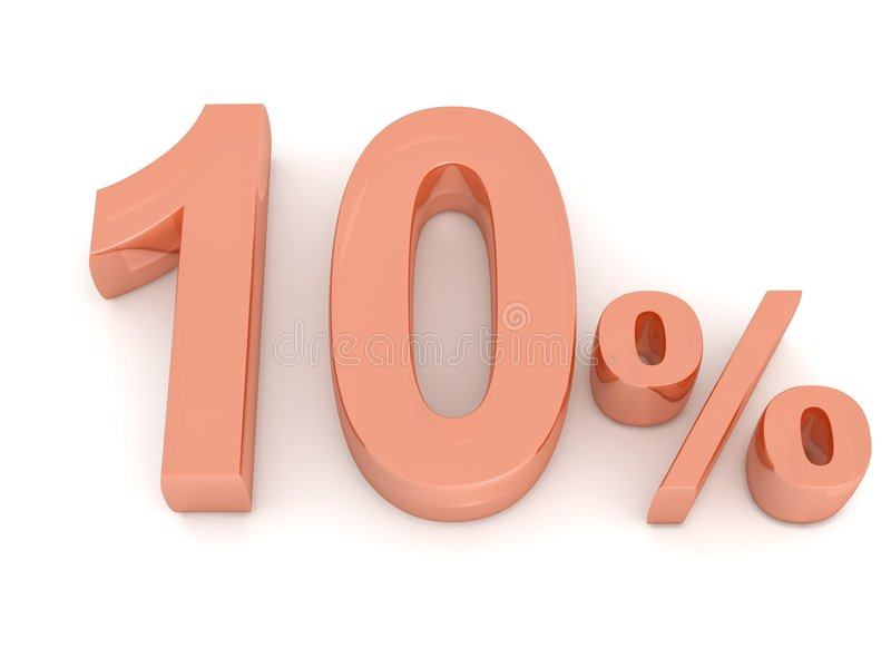 Download Ten Percent Stock Image - Image: 8159151