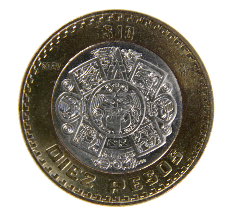 Download Ten Pesos Coin stock image. Image of coin, white, pesos - 7888653