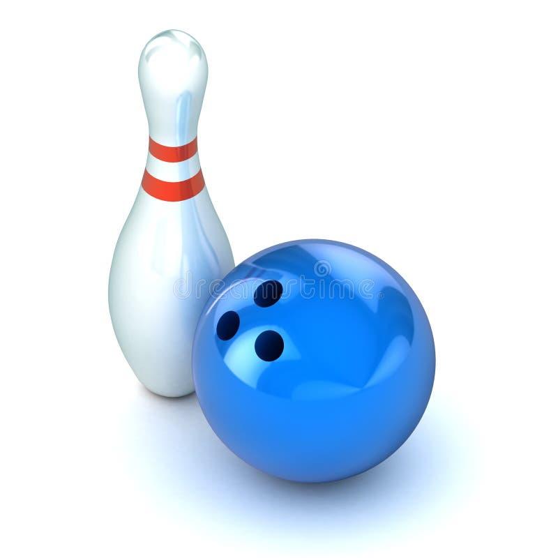 Ten Pin Bowling Illustration Stock Image