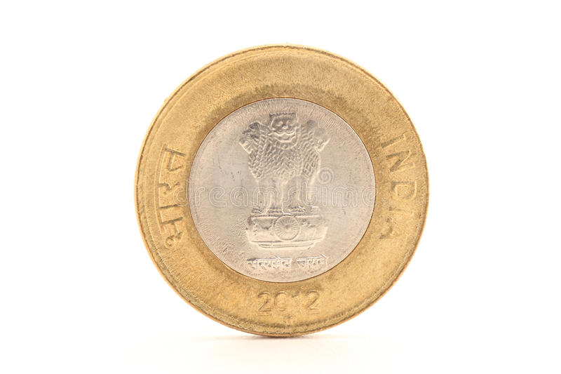 ten rupee coin backside royalty free stock photography