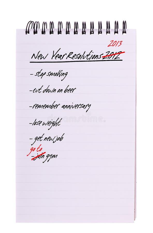 Ten sam nowy rok postanowienia - jego, odizolowywający fotografia stock