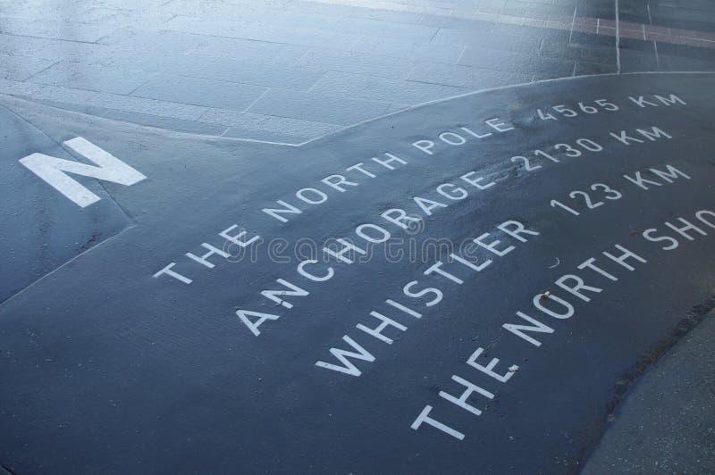 Ten sposób biegun północny obrazy royalty free