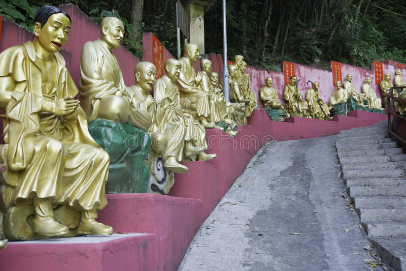 Ten Thousand Buddhas Monastery in Hong Kong royalty free stock images
