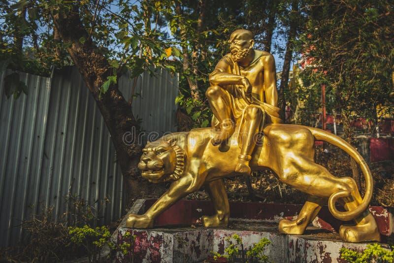 Hong Kong, November 2018 - Ten Thousand Buddhas Monastery Man Fat Sze royalty free stock image