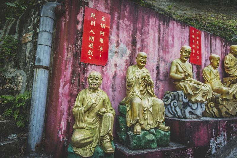 Hong Kong, November 2018 - Ten Thousand Buddhas Monastery Man Fat Sze stock photography