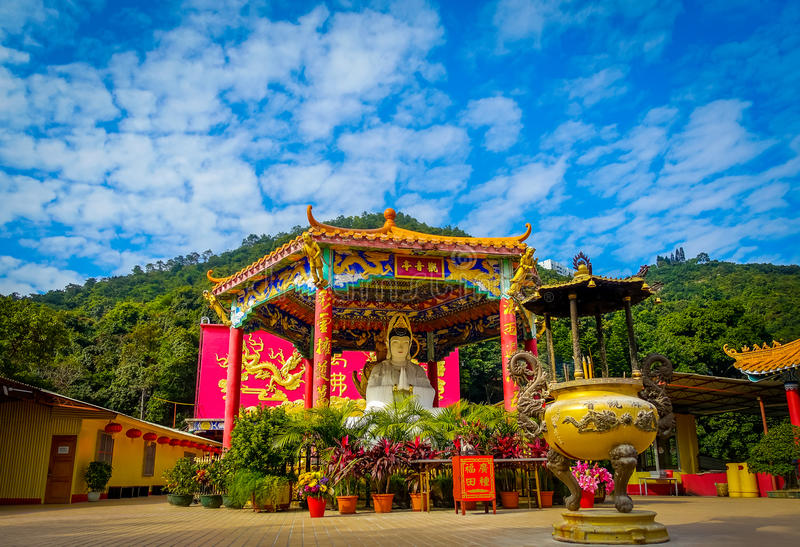 Ten Thousand Buddhas Monastery in Sha Tin, Hong Kong, China. royalty free stock photo