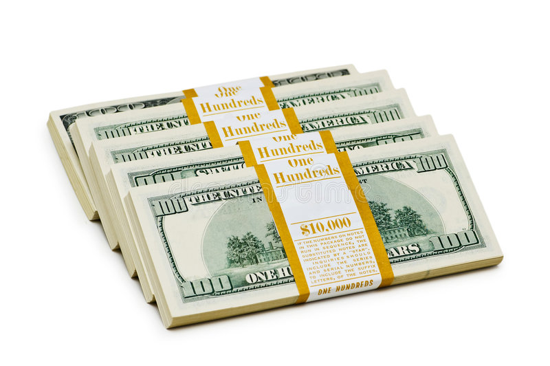 Download Ten thousand dollar stacks stock photo. Image of group - 7775206