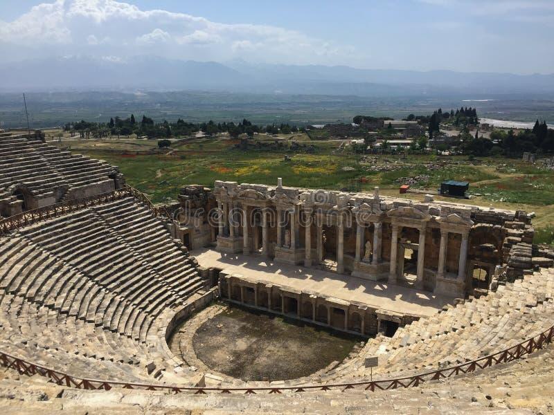 Ten wizerunek wziąć z wierzchu Ephesus teatru w Turcja obraz stock