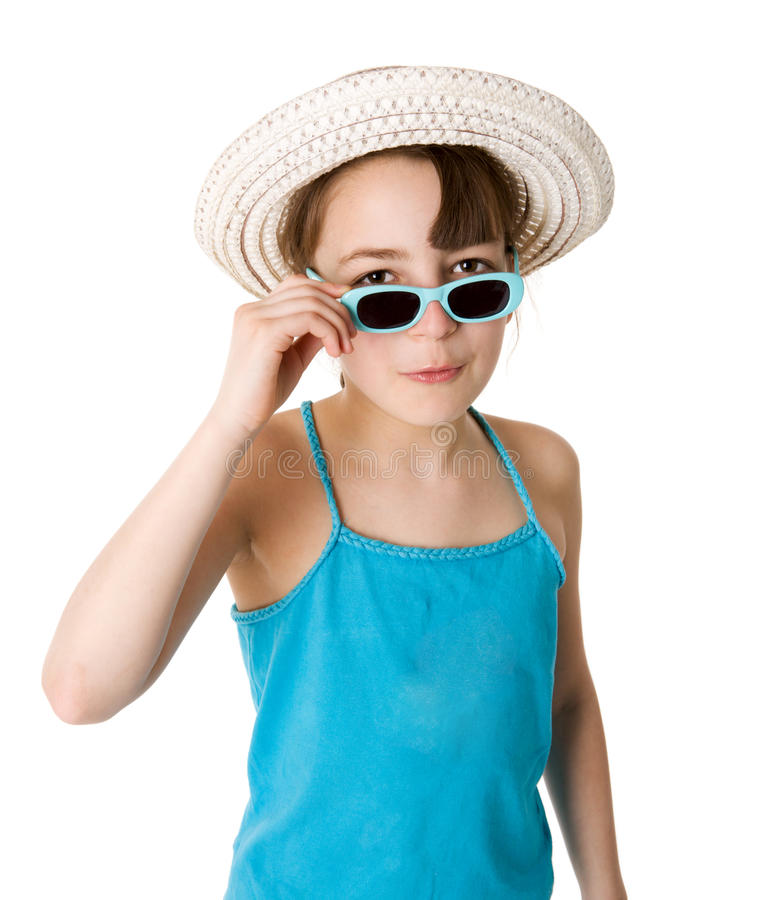 Download Ten years girl stock photo. Image of curious, cheerful - 17524066