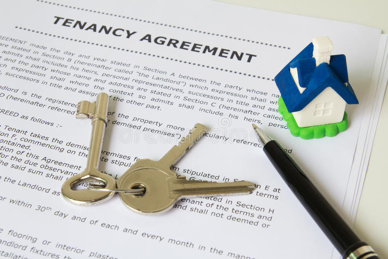Download Tenancy agreement stock image. Image of property, real - 26902703