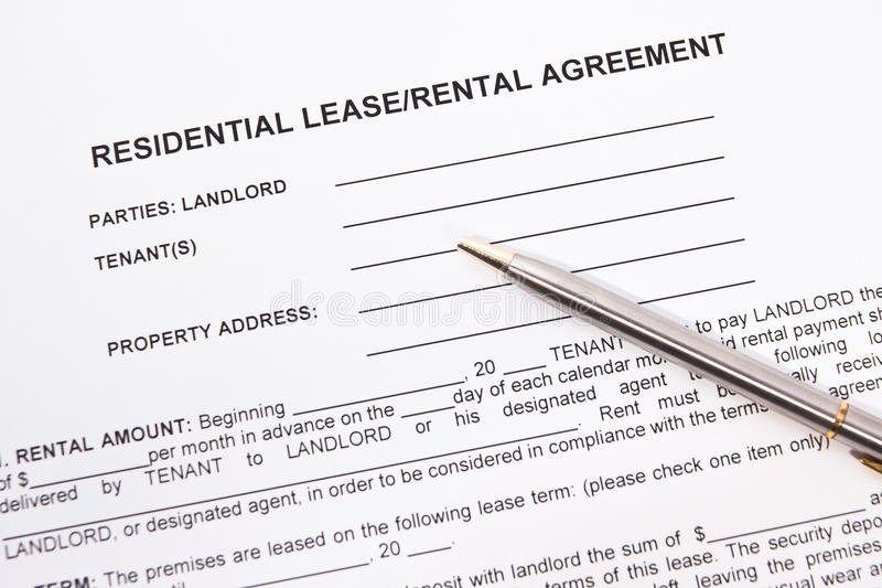 Tenancy agreement stock photos