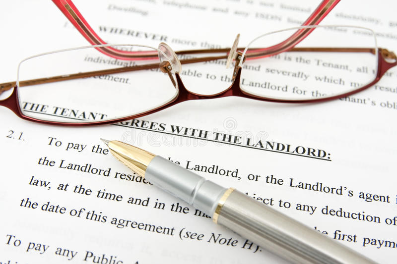 Download Tenant Agreement With The Landlord Stock Image - Image: 22717387