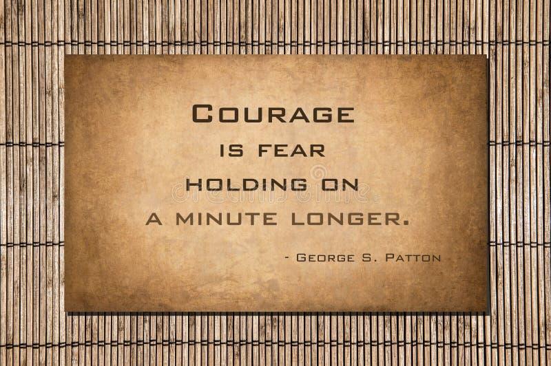 Tenant dessus un plus long minuscule - George S patton photo stock