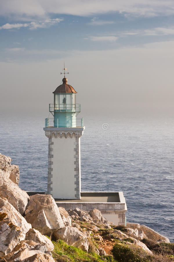 Download Tenaro Lighthouse stock image. Image of taenarus, mediteraneean - 15003109