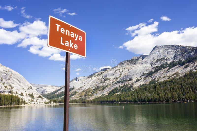 Tenaya湖,优胜美地国家公园 免版税库存照片