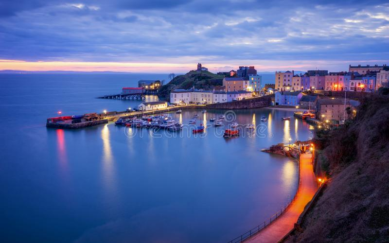 Tenby harbour, wales royalty free stock photos