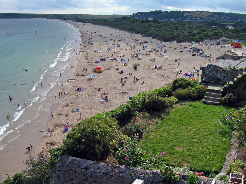 Tenby south beach stock photography