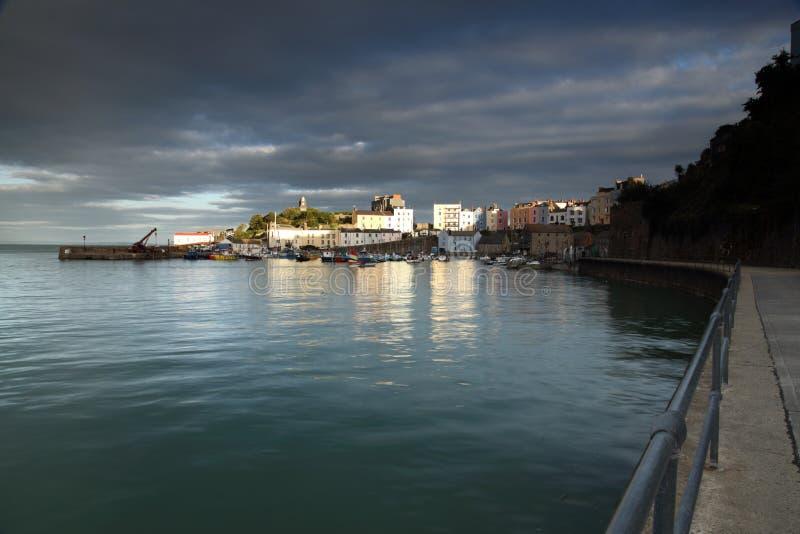 Tenbyhaven, West-Wales, Pembrokeshire, het UK royalty-vrije stock afbeelding