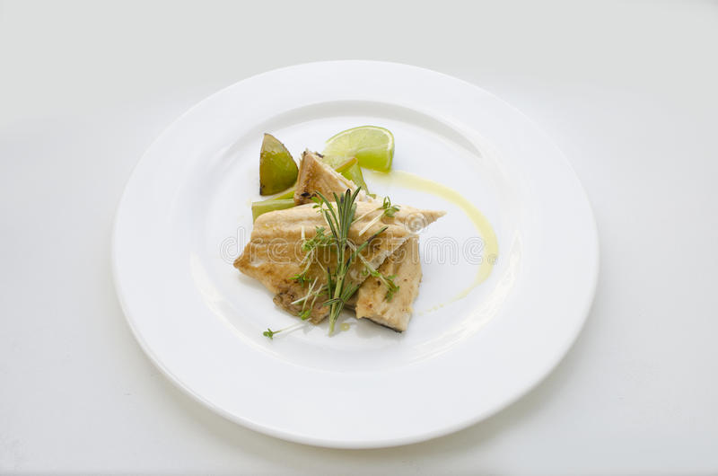 Tench with herbs royalty free stock images