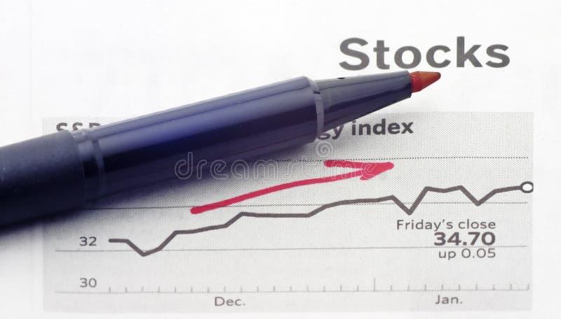 Tendência ascendente fotografia de stock royalty free