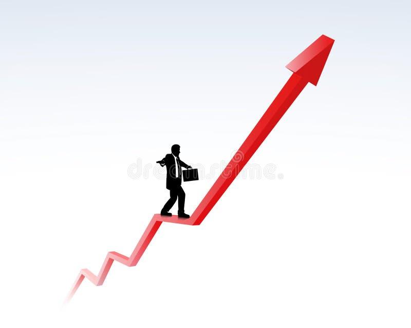 Tendência ascendente e carreira ilustração stock