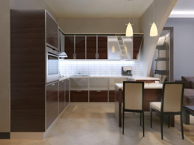 Tendência da cozinha de Zebrano ilustração royalty free