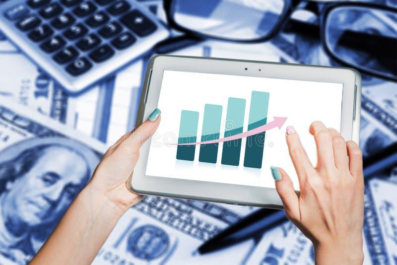 Tendências do negócio, desenvolvimento, crescimento econômico fotografia de stock royalty free