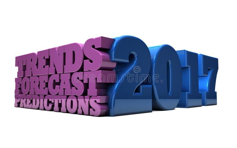 2017 - Tendências, previsão e previsões ilustração do vetor