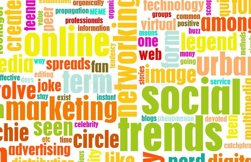 Tendências sociais ilustração stock
