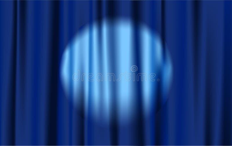 Tenda blu illustrazione vettoriale