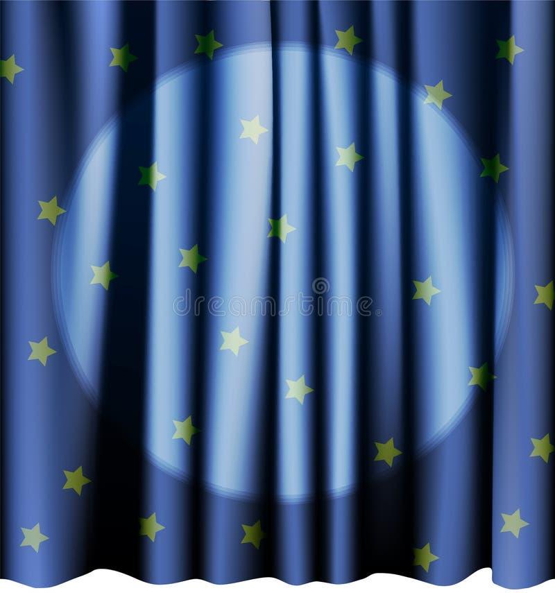 Tenda blu magica per la fase Maglie editabili di vettore royalty illustrazione gratis