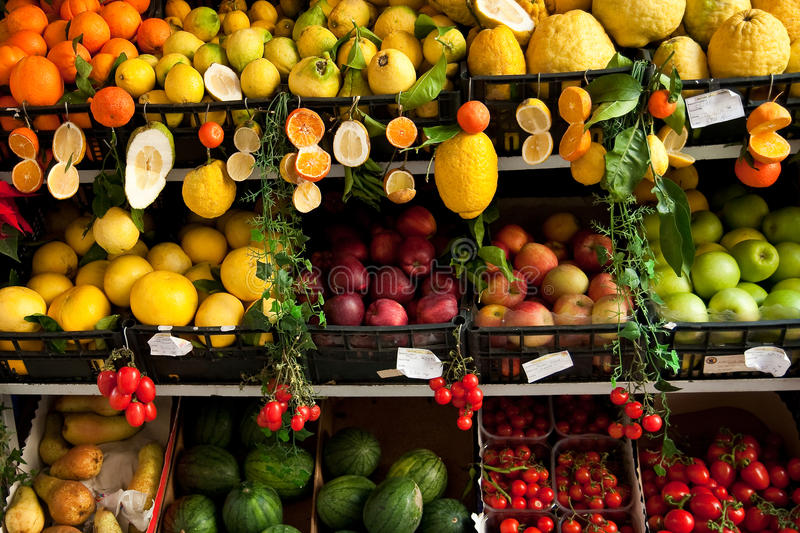 Tenda da fruta fotos de stock