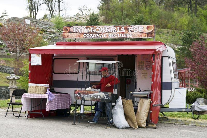 Tenda de Kurtos Kalacs em Romênia fotos de stock