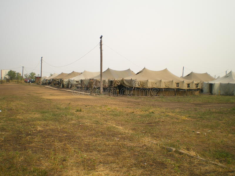 Tenda del campo militare immagine stock libera da diritti