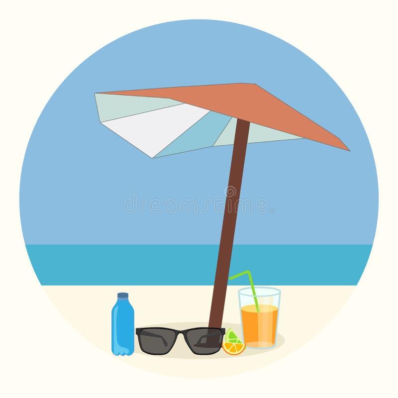 Tenda del mare sulla spiaggia immagine stock