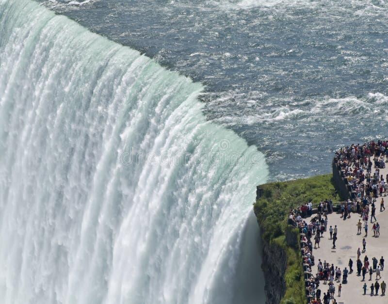 Tenda del Niagara Falls di acqua fotografia stock