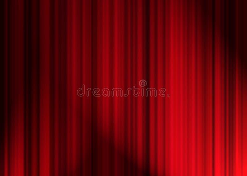 Tenda del teatro illustrazione vettoriale