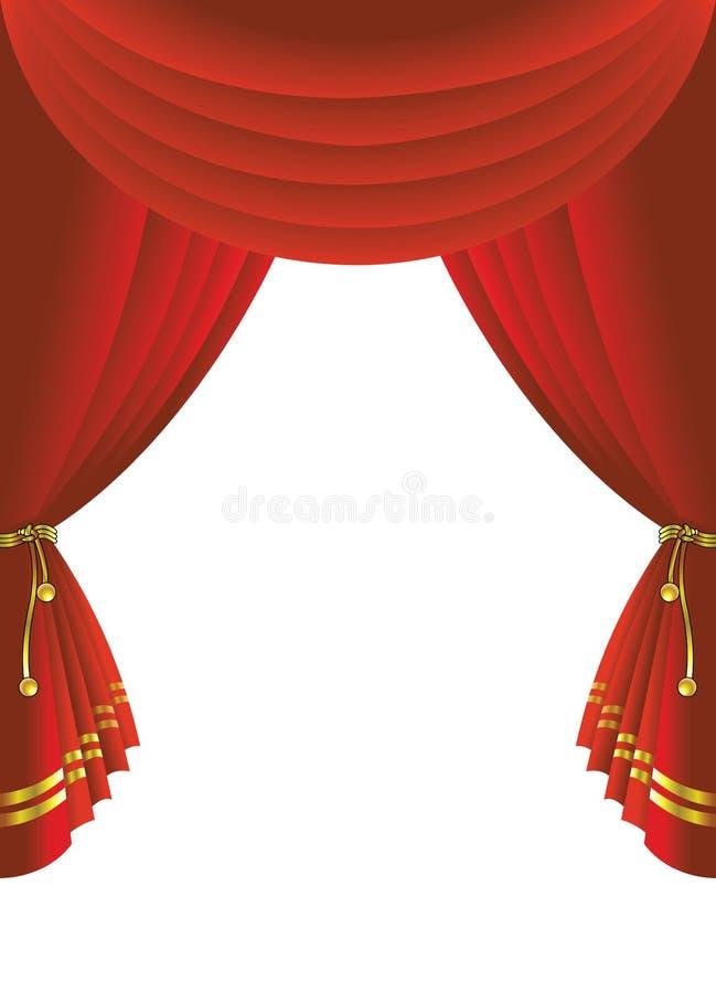 Tenda della fase del teatro illustrazione vettoriale