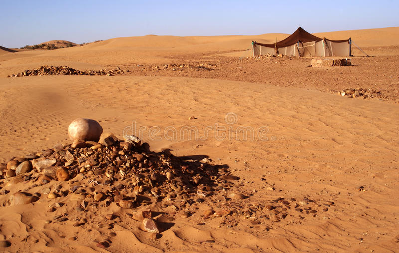 Tenda di Berber fotografia stock