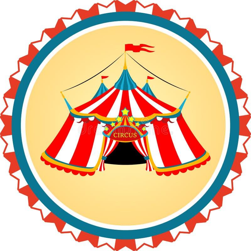 Tenda di circo a strisce nel telaio royalty illustrazione gratis
