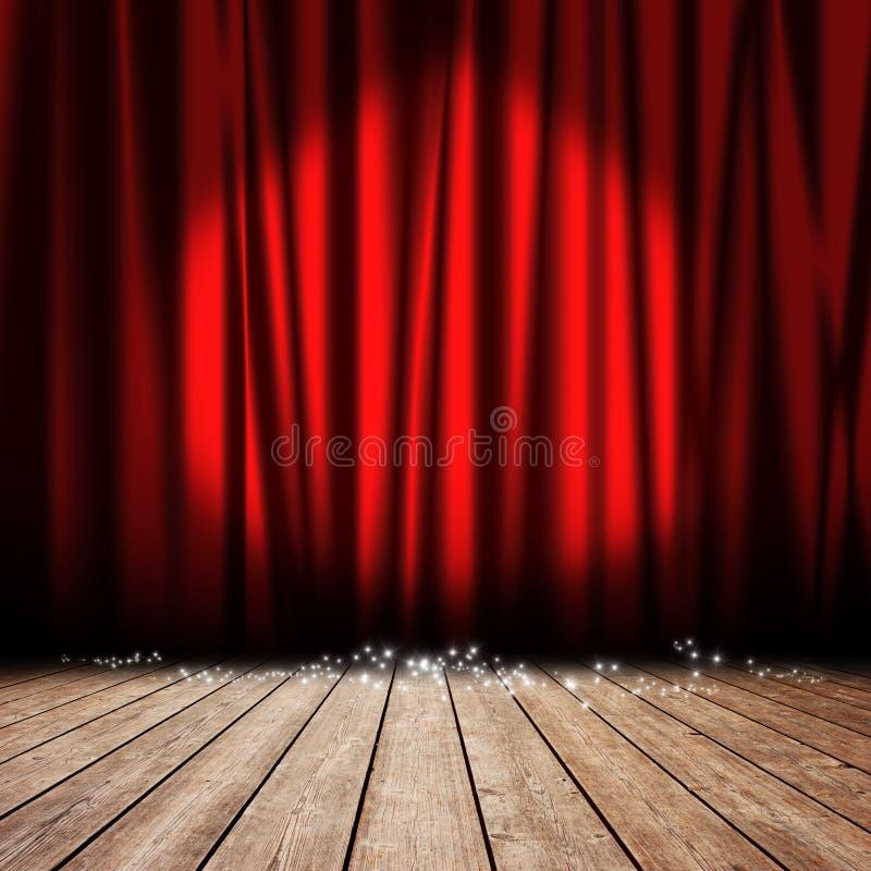 Tenda di colore rosso della fase fotografie stock