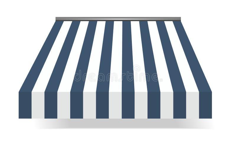 Tenda di stanza frontale di negozio in azzurro illustrazione di stock