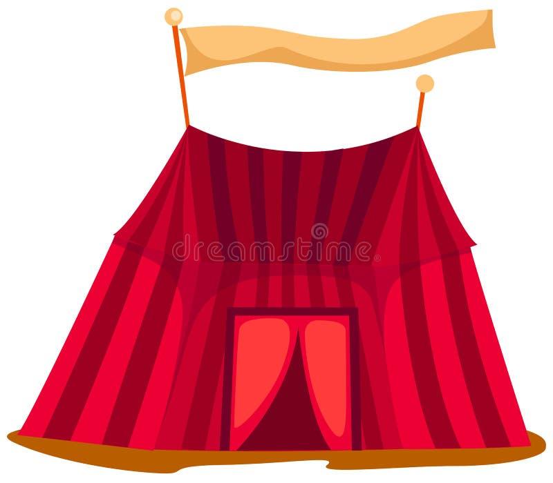 Tenda do circus ilustração do vetor