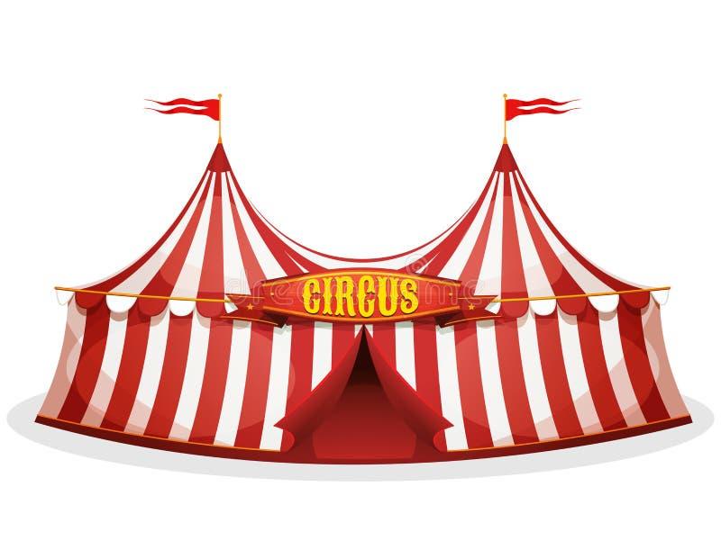 Tenda do circus de parte superior grande ilustração stock