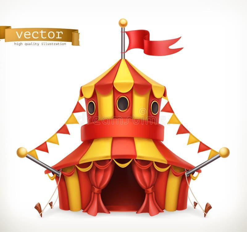 Tenda do circus Engrena o ícone ilustração stock