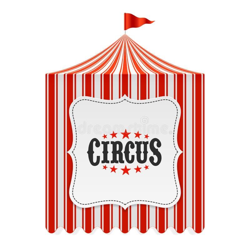 Tenda do circus, fundo do cartaz ilustração royalty free