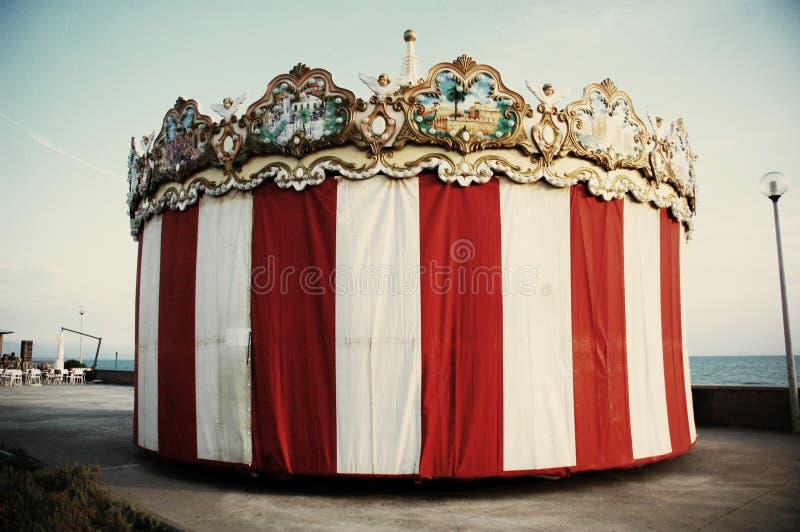 Tenda do circus velha imagens de stock royalty free